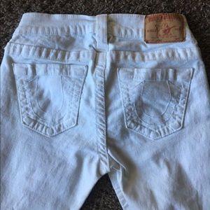 True Religion White Denim Jeans